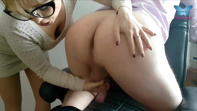 Wicked secretary lick ass of her boss with passion and milks his cock dry BongaCams milf
