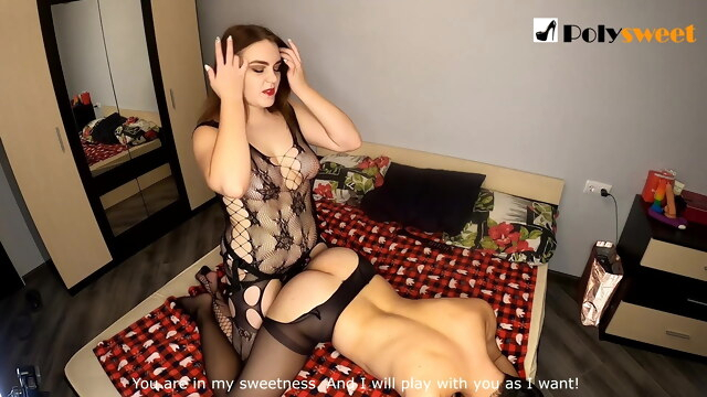 Nice girl wants to be a strapon mistress and fucks a guy BongaCams cumshot
