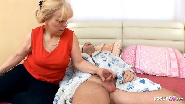 Curvy Mom wake up Step Son with BJ and get Rough Anal Sex BongaCams anal