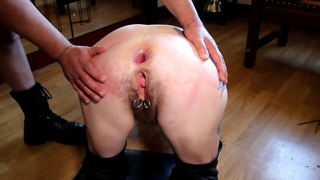 Hairy mature slut fucked in her ass BongaCams anal