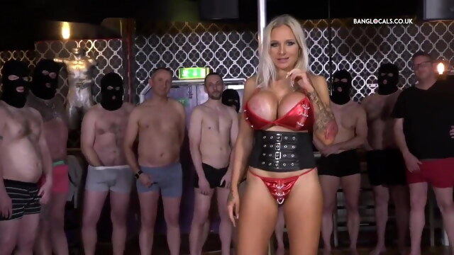 British Slut Gets Destroyed In A 15 Man Gangbang! BongaCams blonde