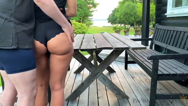 Morning outdoor quickie with schoolgirl - projectsexdiary BongaCams cumshot