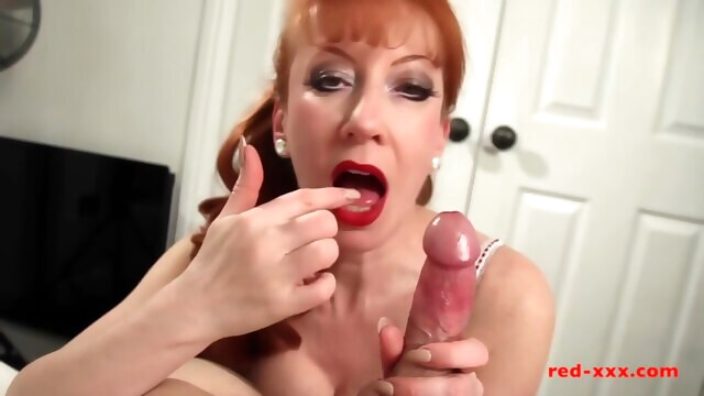 Busty British redhead MILF Red riding a cock BongaCams amateur