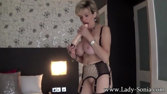 Mature blonde Lady Sonia uses a vibrator on her clit BongaCams amateur