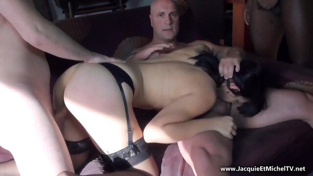 Young willing bitch is used by five men BongaCams amateur