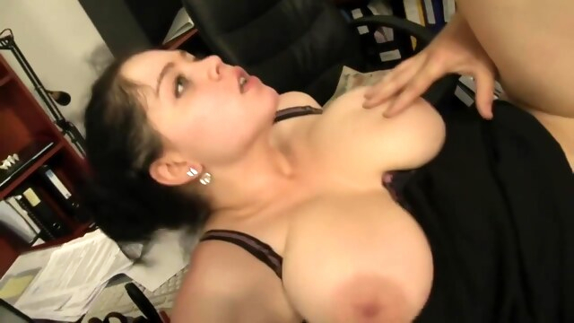 Shione Cooper - Old Boss Gives Extra Work For His Busty Secretary BongaCams big tits