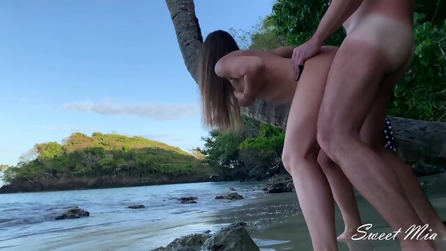 Adventure on a Wild Beach Hot Step Sister Anal Fucked like a Whore for a Creampie BongaCams amateur